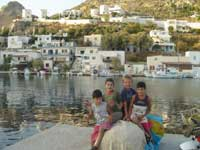 on the Leros jetty